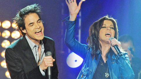 Martina McBride Thrills Fans With Surprise 'Broken Wing' Duet With Rock Band | Country Music Videos