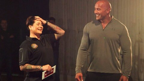 Dwayne 'The Rock' Johnson Leaves Purple Heart Recipient Speechless After Epic Surprise | Country Music Videos