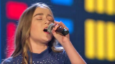 14-Year-Old's Mighty Voice Commands Cover Of Song Recorded By Reba McEntire   Country Music Videos