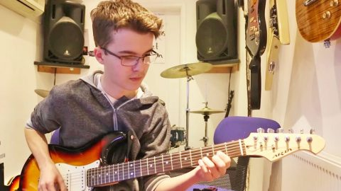 Young Boy Inspires Us All With Skillful Guitar Solo On 'Still Unbroken' | Country Music Videos