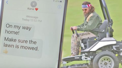 Willie Robertson Rushes To Get Chores Done Before Korie Comes Home In Funny Commercial | Country Music Videos
