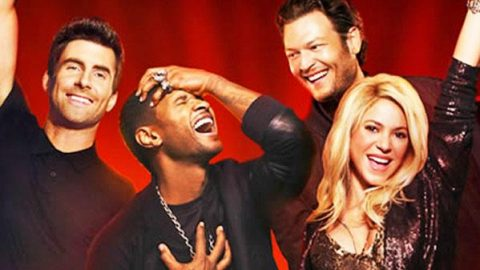 Blake Shelton, Usher, Shakira and Adam Levine – With a Little Help From My Friends (WATCH)   Country Music Videos