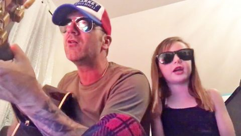 Country Singer & Talented Daughter Steal Hearts With Surreal Valentine's Day Duet   Country Music Videos