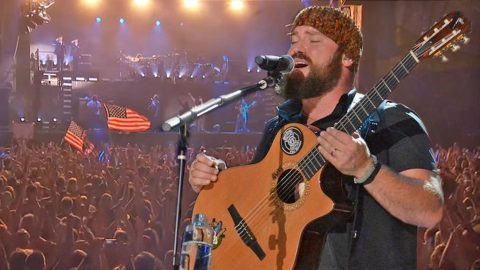 Zac Brown Leads Patriotic 'Chicken Fried' Sing-A-Long At