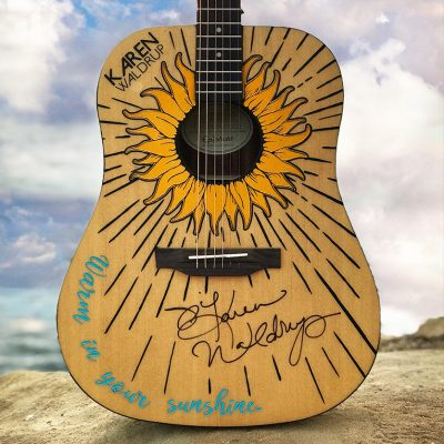 "Karen Waldrup ""Warm In Your Sunshine"" Signed Guitar Giveaway!"