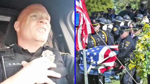 Police Officer Dedicates Emotional 'Lip Sync Challenge' Video To Fallen Officers   Country Music Videos