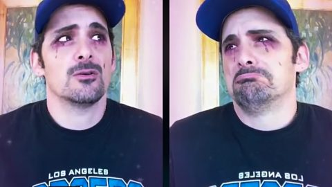 """Hilarious Brad Paisley """"Cries Pretty"""" For Carrie Underwood 