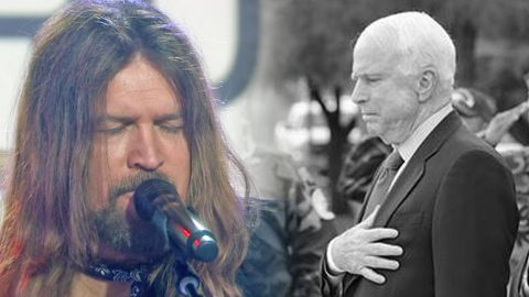 """Billy Ray Cyrus Dedicates 2018 """"Some Gave All"""" Performance To John McCain   Country Music Videos"""