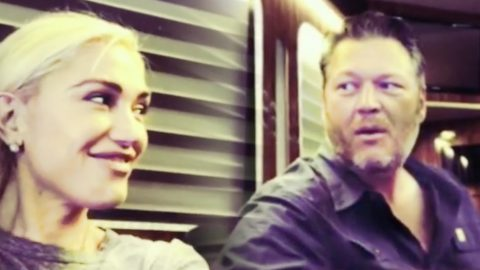 Gwen Stefani Can't Help But Smile While Blake Shelton Serenades Her | Country Music Videos