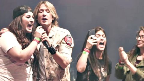 Keith Urban Fan Takes Miranda Lambert's Place During 'We Were Us' | Country Music Videos