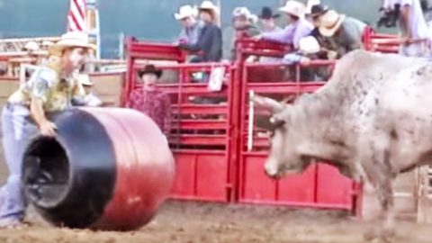 Fearless Rodeo Clown Challenges Angry Bull In Epic Showdown | Country Music Videos