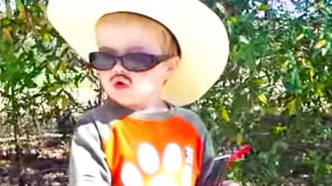5-Year-Old Dresses Up Like Alan Jackson & Sings 'Country Boy'   Country Music Videos