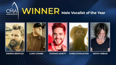 2018 CMA Award For Male Vocalist Of The Year Announced   Country Music Videos