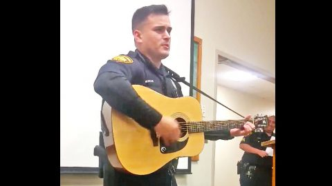 Texas Cop Stuns Fellow Officers With Unexpected Johnny Cash Cover | Country Music Videos
