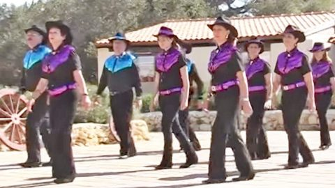 Line Dancers Bring Some Sparkle To Alan Jackson's Version Of 'Kiss An Angel Good Mornin'"