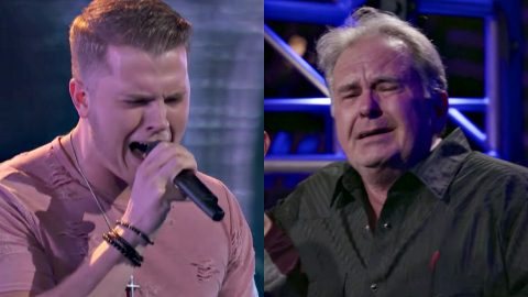 Proud Dad Can't Hold Back Tears After Blake Turns Chair For Son's 'Voice' Blind Audition | Country Music Videos