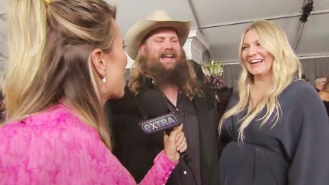 Chris Stapleton's Wife Has Priceless Response When Asked About His Love Songs | Country Music Videos