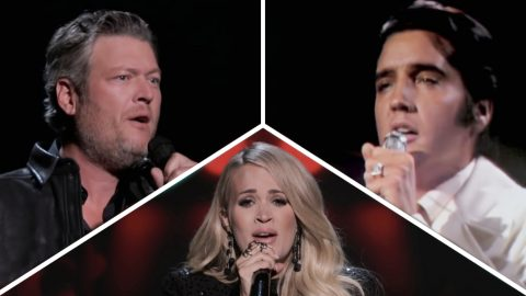 Pregnant Carrie Joins Blake, Darius, & More For Spine-Tingling Elvis Tribute | Country Music Videos
