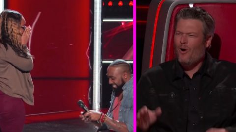 See Why The 'Voice' Coaches Can't Stop Laughing At Singer's Surprise Proposal | Country Music Videos