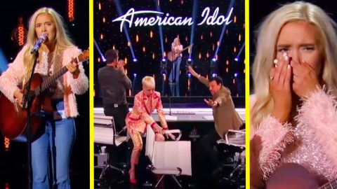 Katy Perry Throws Chair After Laci Kaye Booth Sings Aretha Franklin On 'Idol' | Country Music Videos