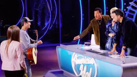 Laine Hardy Returns To 'Idol' To Help Friend, Ends Up With Golden Ticket | Country Music Videos