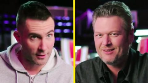 Adam Levine Finds Comical Way To Describe Best Buddy Blake Shelton | Country Music Videos