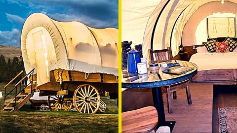 You Can Camp In Covered Wagons – Oregon Trail Style | Country Music Videos