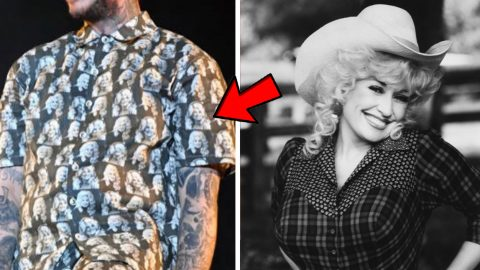 Dolly Reacts To Rapper Wearing Her Face On His Clothing During Show | Country Music Videos