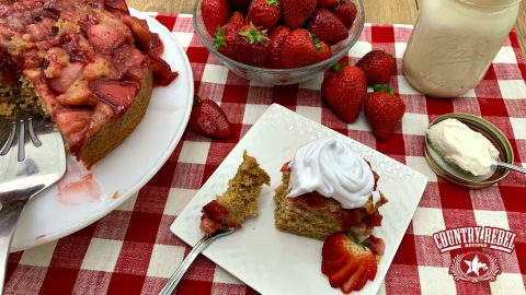 Strawberry & Brown Sugar Upside-Down Cake | Country Music Videos