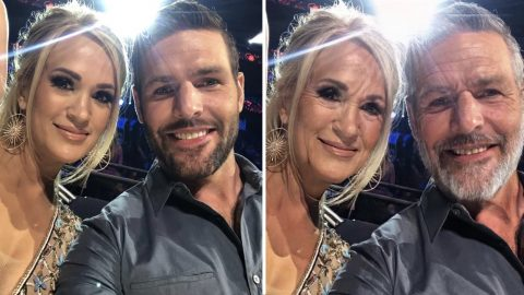 Carrie Underwood Posts Photo Showing What She & Husband Will Look Like When Old | Country Music Videos