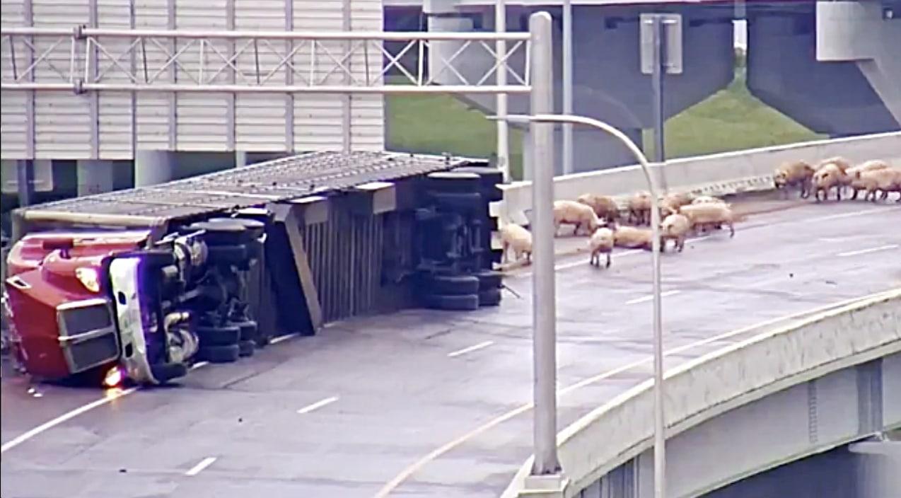 BREAKING NEWS: Truck Flips Over On Interstate Killing 100
