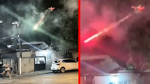 Guy Uses Drone To Shoot Fireworks At Loud Neighbor's Party – But