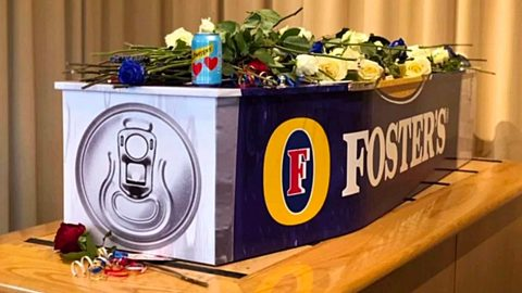 Man Gets Buried In Coffin That Looks Just Like His Favorite Beer   Country Music Videos
