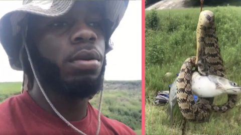 Texas Wild Man Catches Fish With Snake Trying To Eat It | Country Music Videos