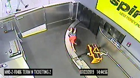 Toddler Rides Airport Conveyor Belt And Security Footage Shows All | Country Music Videos