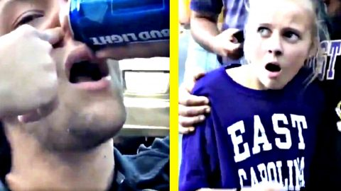 College Guy Chugs Bud Light Through His Nostril | Country Music Videos