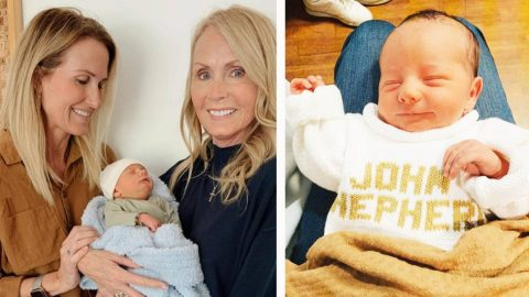Korie Robertson Posts First Photos Of 3-Day-Old Grandson | Country Music Videos