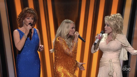 Reba, Dolly And Carrie Deliver Opening Monologue Full Of Laughs And Love For Brad Paisley   Country Music Videos
