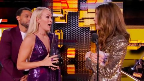 Carrie Underwood Surprised With 2nd Trophy After Winning AMA For Favorite Country Album | Country Music Videos