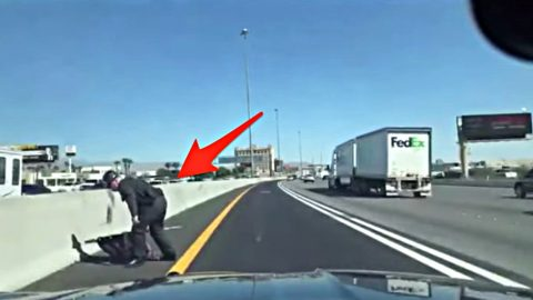 Nevada State Trooper Pulls Over On Highway To Save American Flag | Country Music Videos