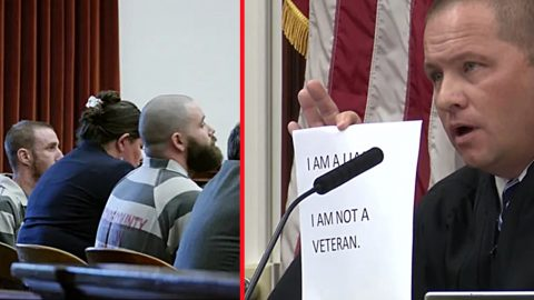 2 Men Forced To Wear 'I Have Dishonored All Veterans' Signs In Public Due To Stolen Valor | Country Music Videos