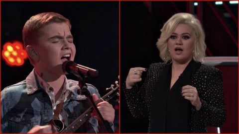 Kelly Clarkson Thought 14-Year-Old Boy Was A 20-Something Female During 'Voice' Blind Audition | Country Music Videos