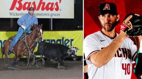 Champion Team Roper Mason Saunders Is Actually Madison Bumgarner, MLB Pitcher   Country Music Videos