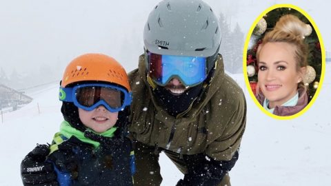 """Mike & Isaiah Fisher Spend Father-Son Day Skiing – Carrie Calls Them Her """"Ski Bums"""" 