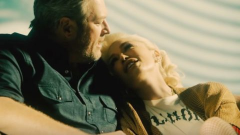"""Blake Shelton & Gwen Stefani Share New, Acoustic Version Of """"Nobody But You"""" 