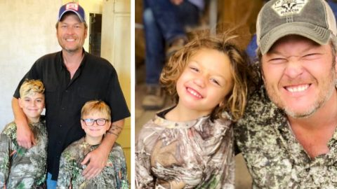 Gwen Honors Blake On Father's Day, Thanks Him For Helping Raise Her 3 Sons | Country Music Videos