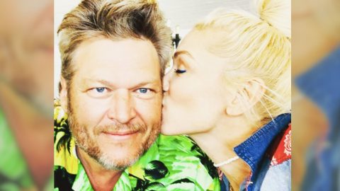 "Gwen Stefani Gives Blake Shelton A Birthday Kiss, Calls Him Her ""Best Friend""   Country Music Videos"
