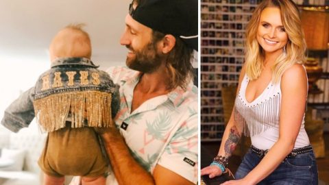 Maren Morris & Baby Hayes Receive Matching Jackets From Miranda Lambert | Country Music Videos
