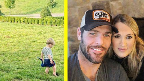 Mike Fisher Shares Photo Of Son Jake And Family Dog | Country Music Videos