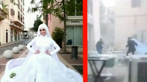 Beirut Explosion Captured On Film During Bride's Wedding Shoot | Country Music Videos